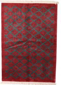 Himalaya Teppe 144X206 Ekte Moderne Håndknyttet Mørk Rød/Svart (Ull, India)