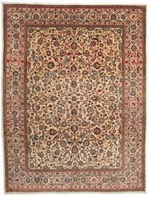 Sarough Teppe 274X357 Ekte Orientalsk Håndknyttet Mørk Brun/Lysbrun Stort (Ull, Persia/Iran)