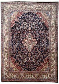Hamadan Teppe 266X372 Ekte Orientalsk Håndknyttet Mørk Lilla/Lys Grå Stort (Ull, Persia/Iran)
