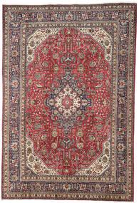 Tabriz Teppe 196X298 Ekte Orientalsk Håndknyttet Mørk Rød/Lys Grå (Ull, Persia/Iran)