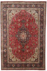 Tabriz Teppe 197X300 Ekte Orientalsk Håndknyttet Mørk Brun/Lysbrun (Ull, Persia/Iran)