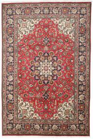 Tabriz Teppe 200X303 Ekte Orientalsk Håndknyttet Mørk Brun/Brun (Ull, Persia/Iran)