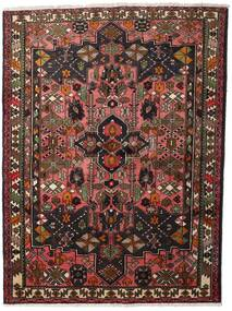 Hamadan Teppe 150X200 Ekte Orientalsk Håndknyttet Mørk Rød/Mørk Brun (Ull, Persia/Iran)