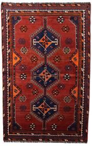 Ghashghai Teppe 140X222 Ekte Orientalsk Håndknyttet Mørk Rød (Ull, Persia/Iran)