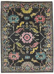 Ushak Teppe 215X287 Ekte Moderne Håndknyttet Mørk Grå (Ull, Pakistan)