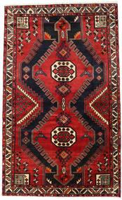 Hamadan Teppe 143X238 Ekte Orientalsk Håndknyttet Mørk Brun/Rust (Ull, Persia/Iran)