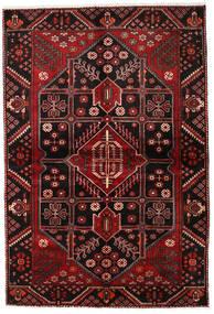 Hamadan Teppe 154X227 Ekte Orientalsk Håndknyttet Mørk Brun/Mørk Rød (Ull, Persia/Iran)