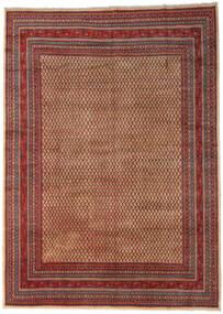 Sarough Mir Teppe 289X399 Ekte Orientalsk Håndknyttet Mørk Brun/Mørk Rød Stort (Ull, Persia/Iran)