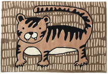 Cool Cat - Beige Teppe 120X180 Moderne Brun/Lysbrun (Ull, India)