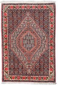 Senneh Teppe 75X110 Ekte Orientalsk Håndknyttet Mørk Brun/Mørk Rød (Ull, Persia/Iran)
