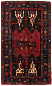 Hamadan Teppe 143X238 Ekte Orientalsk Håndknyttet Mørk Rød (Ull, Persia/Iran)