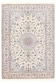 Nain 6La Teppe 156X222 Ekte Orientalsk Håndvevd Lys Grå/Beige/Hvit/Creme (Ull/Silke, Persia/Iran)