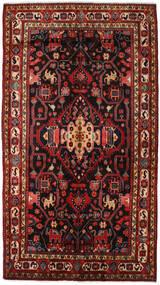Nahavand Teppe 156X278 Ekte Orientalsk Håndknyttet Mørk Rød/Svart (Ull, Persia/Iran)