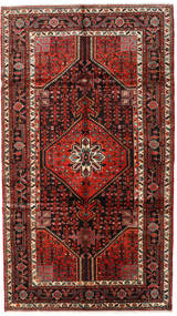 Hamadan Teppe 157X278 Ekte Orientalsk Håndknyttet Mørk Rød/Mørk Brun (Ull, Persia/Iran)