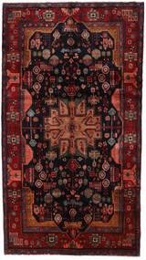 Nahavand Teppe 158X286 Ekte Orientalsk Håndknyttet Mørk Rød/Svart (Ull, Persia/Iran)