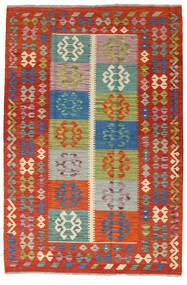 Kelim Afghan Old Style Teppe 127X190 Ekte Orientalsk Håndvevd Rust/Mørk Rød (Ull, Afghanistan)