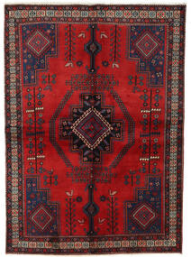 Afshar Teppe 158X221 Ekte Orientalsk Håndknyttet Mørk Rød/Mørk Brun (Ull, Persia/Iran)