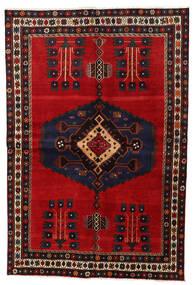 Afshar Teppe 159X230 Ekte Orientalsk Håndknyttet Mørk Brun/Mørk Rød (Ull, Persia/Iran)