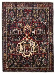 Afshar Shahre Babak Teppe 136X185 Ekte Orientalsk Håndknyttet Mørk Rød/Lysbrun (Ull, Persia/Iran)