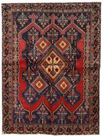 Afshar Teppe 158X211 Ekte Orientalsk Håndknyttet Mørk Grå/Mørk Rød (Ull, Persia/Iran)