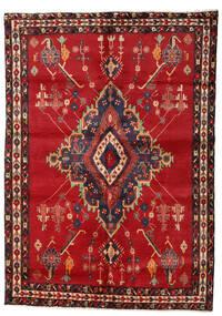 Afshar Teppe 158X224 Ekte Orientalsk Håndknyttet Mørk Rød/Mørk Brun/Rød (Ull, Persia/Iran)