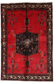 Afshar Teppe 153X228 Ekte Orientalsk Håndknyttet Rød/Mørk Brun (Ull, Persia/Iran)