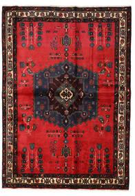 Afshar Teppe 160X227 Ekte Orientalsk Håndknyttet Svart/Rød (Ull, Persia/Iran)