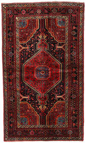 Hamadan Teppe 135X230 Ekte Orientalsk Håndknyttet Mørk Rød/Mørk Brun (Ull, Persia/Iran)