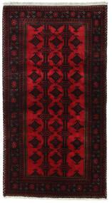Beluch Teppe 100X187 Ekte Orientalsk Håndknyttet Mørk Rød (Ull, Persia/Iran)