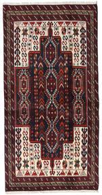 Beluch Teppe 97X191 Ekte Orientalsk Håndknyttet Mørk Rød (Ull, Persia/Iran)