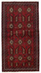 Beluch Teppe 104X196 Ekte Orientalsk Håndknyttet Mørk Rød (Ull, Persia/Iran)