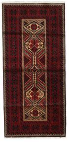 Beluch Teppe 90X190 Ekte Orientalsk Håndknyttet Mørk Rød (Ull, Persia/Iran)