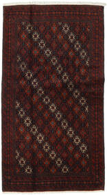 Beluch Teppe 101X188 Ekte Orientalsk Håndknyttet Mørk Brun/Mørk Rød (Ull, Persia/Iran)