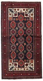 Beluch Teppe 105X203 Ekte Orientalsk Håndknyttet Mørk Rød (Ull, Persia/Iran)