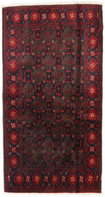 Beluch Teppe 110X200 Ekte Orientalsk Håndknyttet Mørk Rød (Ull, Persia/Iran)