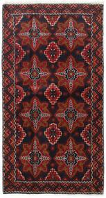Beluch Teppe 103X193 Ekte Orientalsk Håndknyttet Mørk Rød/Mørk Brun (Ull, Persia/Iran)