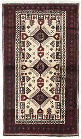 Beluch Teppe 97X170 Ekte Orientalsk Håndknyttet Mørk Brun/Beige (Ull, Persia/Iran)