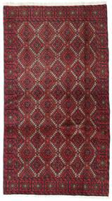 Beluch Teppe 95X173 Ekte Orientalsk Håndknyttet Mørk Rød/Rød (Ull, Persia/Iran)