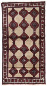Beluch Teppe 96X184 Ekte Orientalsk Håndknyttet Mørk Rød/Mørk Brun (Ull, Persia/Iran)
