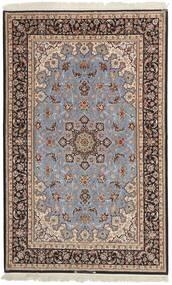 Isfahan Silkerenning Teppe 155X248 Ekte Orientalsk Håndvevd Lys Grå/Mørk Brun (Ull/Silke, Persia/Iran)