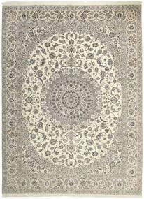 Nain 6La Teppe 306X413 Ekte Orientalsk Håndvevd Lys Grå/Beige Stort (Ull/Silke, Persia/Iran)