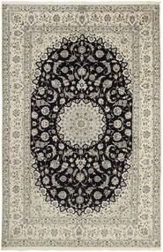 Nain 6La Teppe 207X320 Ekte Orientalsk Håndknyttet Lys Grå/Mørk Grå (Ull/Silke, Persia/Iran)