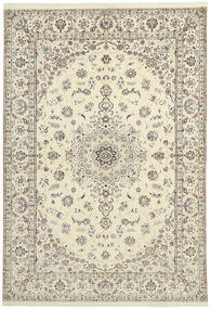 Nain 6La Teppe 151X230 Ekte Orientalsk Håndvevd Beige/Lys Grå (Ull/Silke, Persia/Iran)