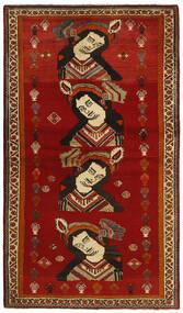 Ghashghai Teppe 119X212 Ekte Orientalsk Håndknyttet Rød/Mørk Rød (Ull, Persia/Iran)
