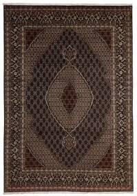 Tabriz 40 Raj Teppe 204X293 Ekte Orientalsk Håndknyttet Mørk Rød/Mørk Brun (Ull/Silke, Persia/Iran)