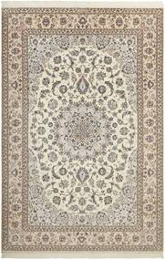 Nain 6La Teppe 210X308 Ekte Orientalsk Håndknyttet Lys Grå/Beige (Ull/Silke, Persia/Iran)
