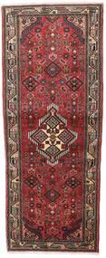 Hosseinabad Teppe 75X186 Ekte Orientalsk Håndknyttet Teppeløpere Mørk Rød/Brun (Ull, Persia/Iran)