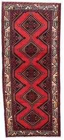 Hamadan Teppe 78X185 Ekte Orientalsk Håndknyttet Teppeløpere Mørk Rød/Rød (Ull, Persia/Iran)