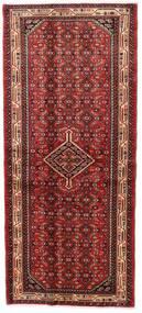 Asadabad Teppe 82X188 Ekte Orientalsk Håndknyttet Teppeløpere Mørk Rød/Rust (Ull, Persia/Iran)