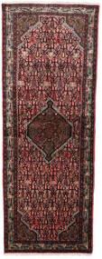 Asadabad Teppe 77X205 Ekte Orientalsk Håndknyttet Teppeløpere Mørk Rød/Brun (Ull, Persia/Iran)